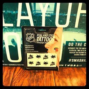 San Jose Sharks 🦈 NHL Peel and Stick Tattoos